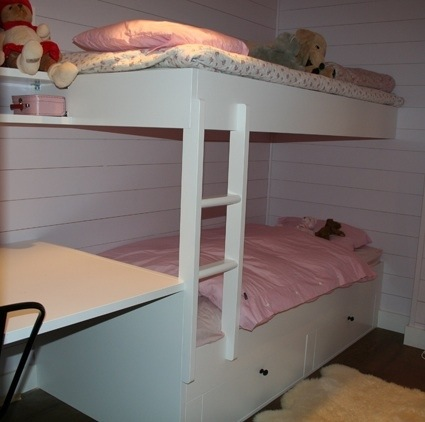Kvitfjell Lodge soverom med køyeseng